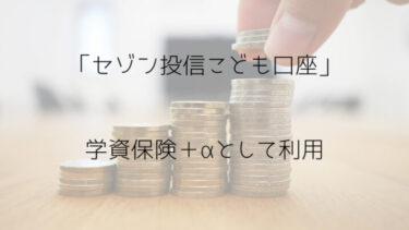 セゾン投信のこども口座、学資保険+αで利用する!月5000円からできる
