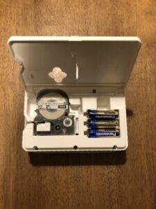テプラ乾電池