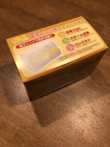 哺乳瓶消毒器の箱