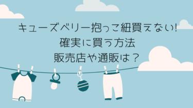 キューズベリー抱っこ紐が買えない確実に買う方法と販売店や通販は?