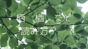木へんに西の読み方!木へんに西みたいな字、栖に似た漢字も気になる